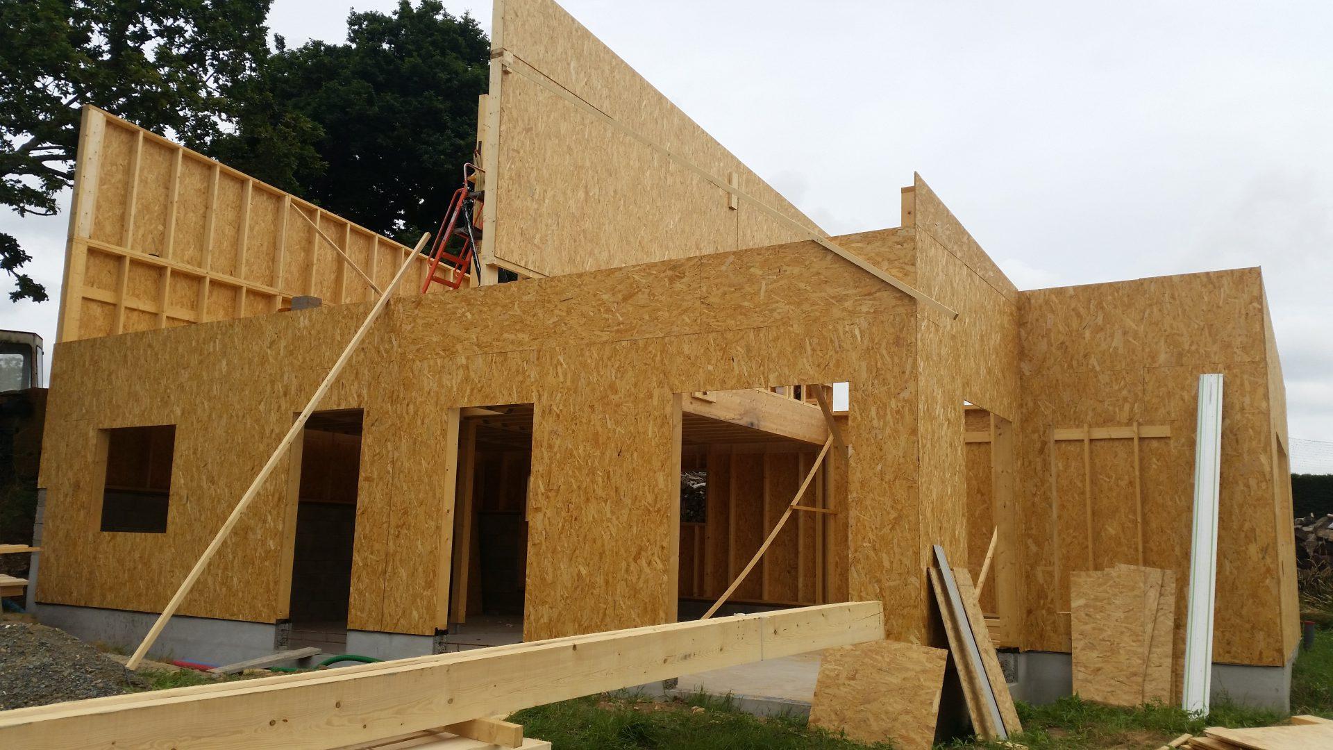 Construction d une maison ossature bois bidault - Gros oeuvre d une maison ...